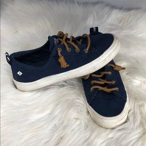 Navy Blue Sperrys size 6